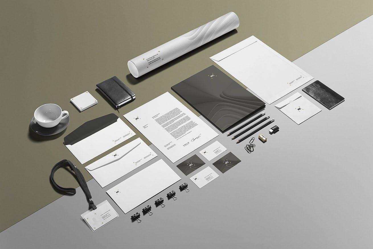 高端品牌样机VI素材  样机智能贴图样机模板Business Stationery Branding Mockup