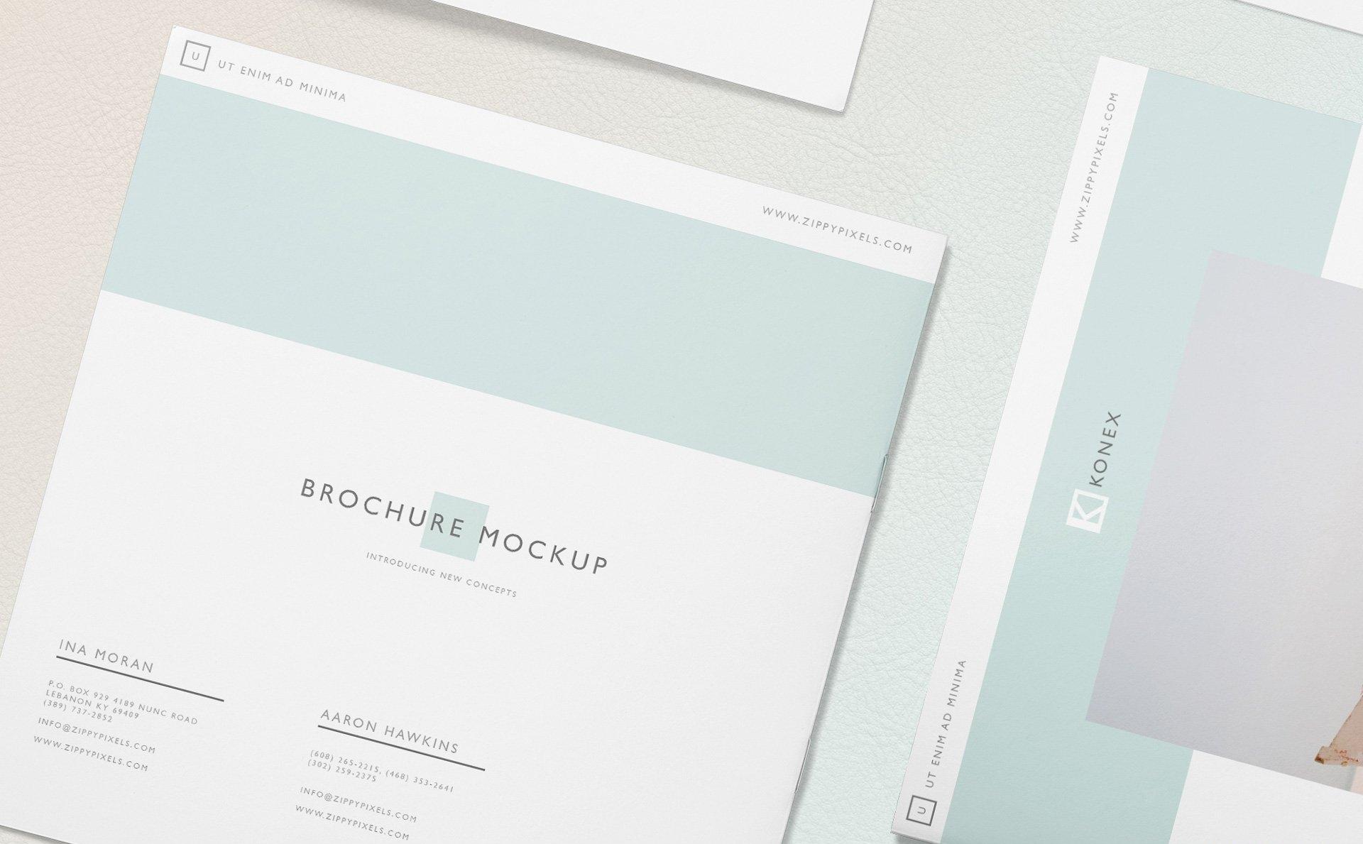 企业品牌办公样机展示  智能贴图296-square-brochure-mockup-free