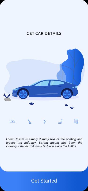 蓝色汽车详情App  Car Details APP UI Design Kit