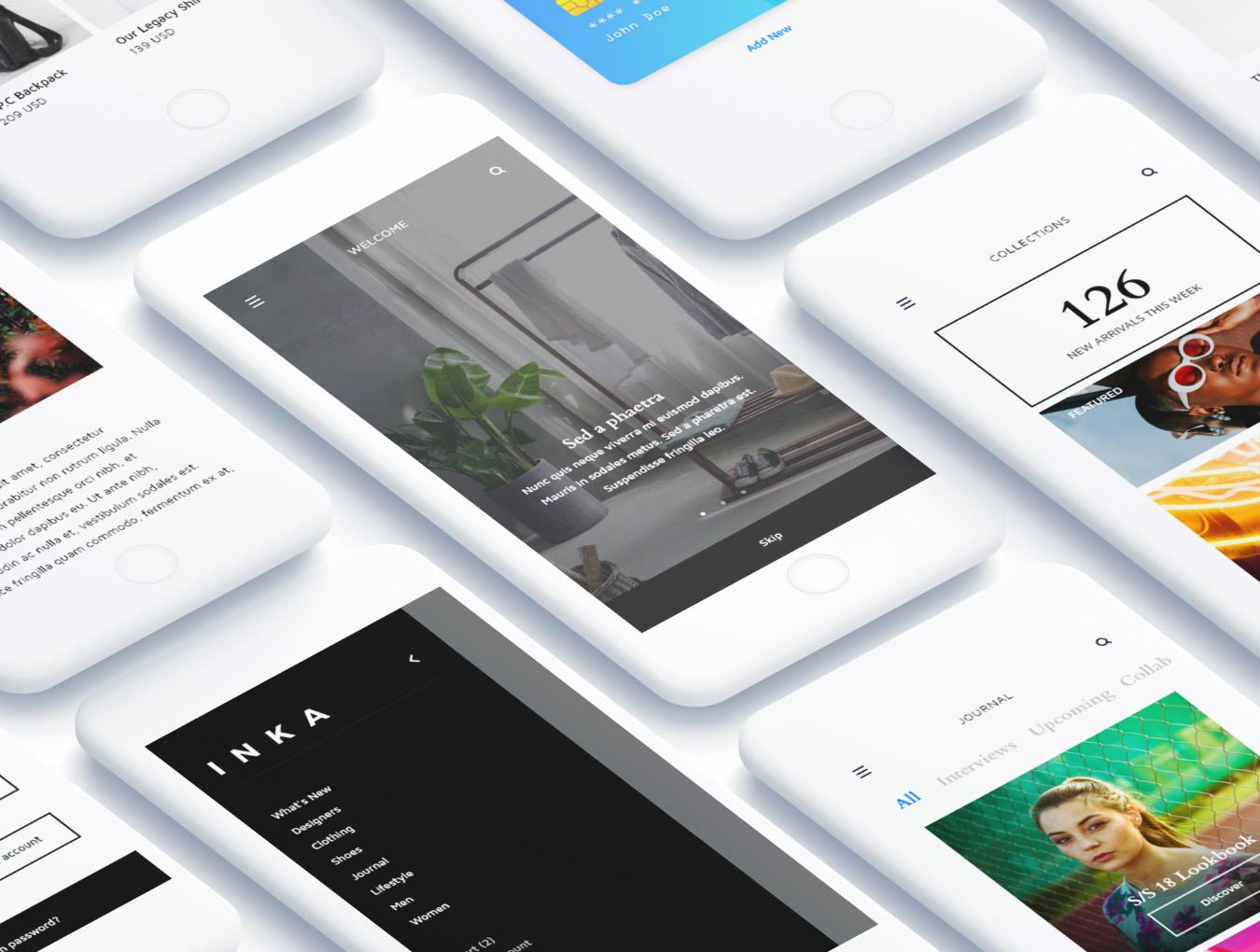简约金融行业APP INKA iOS UI Kit