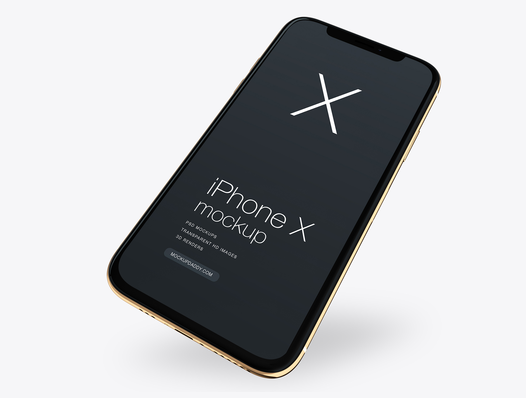 多角度苹果iPhone Xs手机样机Apple Xs Gold Mockup