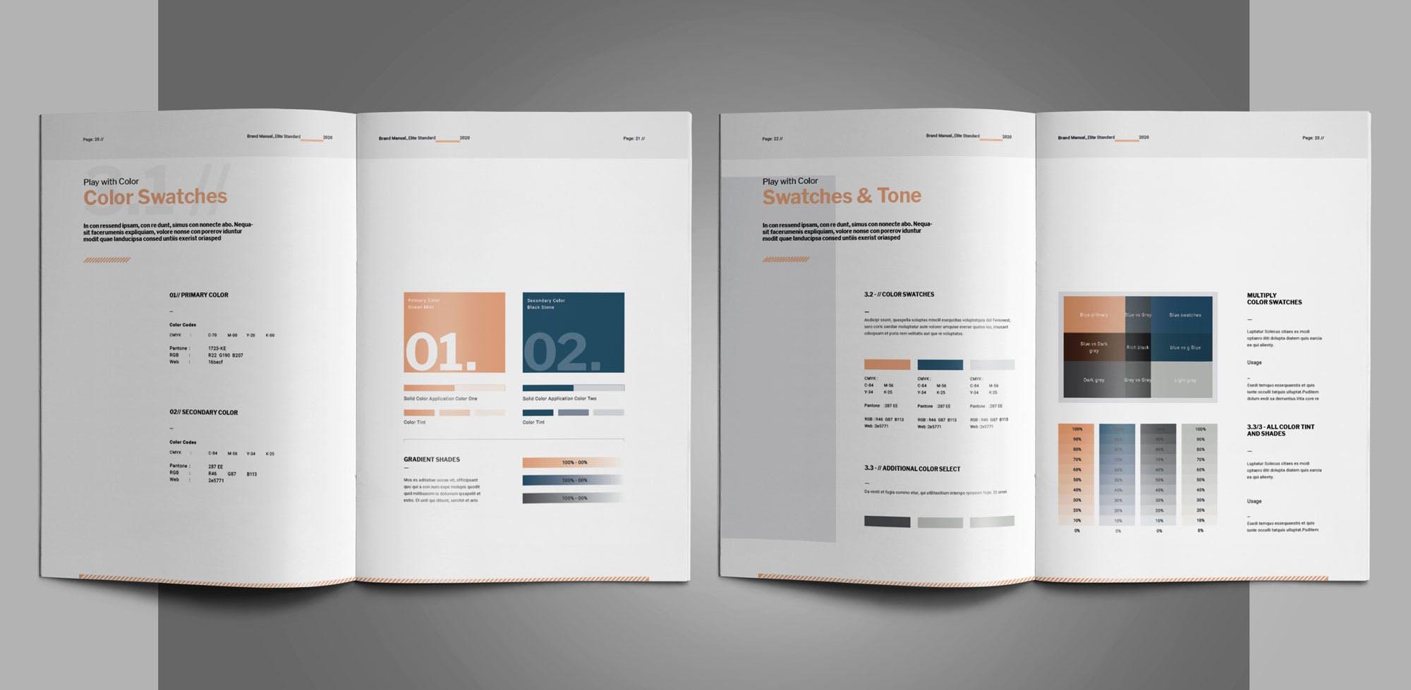 企业绿植办公类画册模板素材Brand Manual