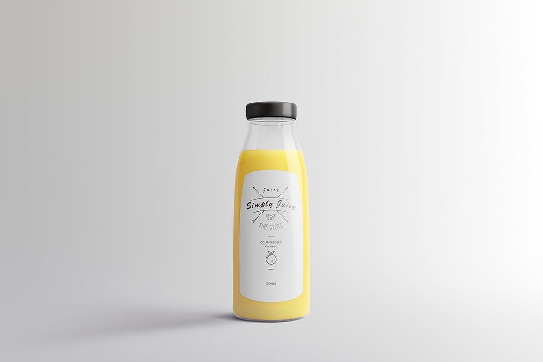 果蔬料理包装瓶样机展示智能贴图Juice Bottle Packaging Mock-Ups Vol.1
