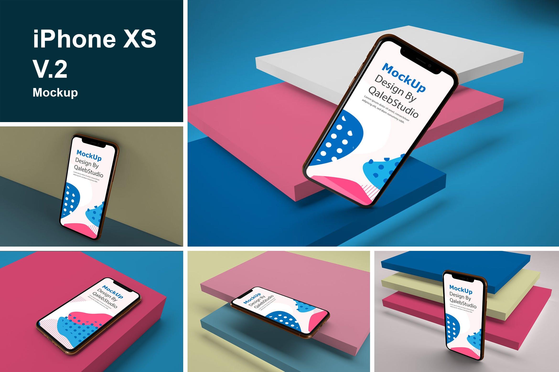 苹果手机设备样机多角度展示样机iPhone XS V.2