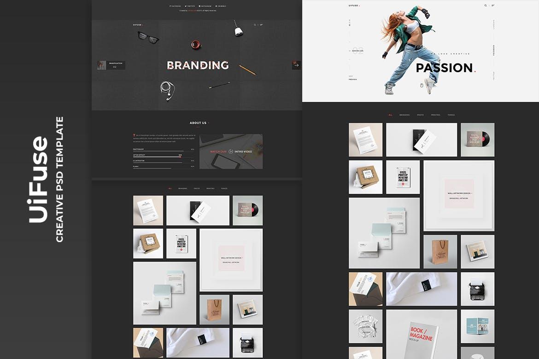 精致优雅现代设计网站UI,素材下载(PSD)