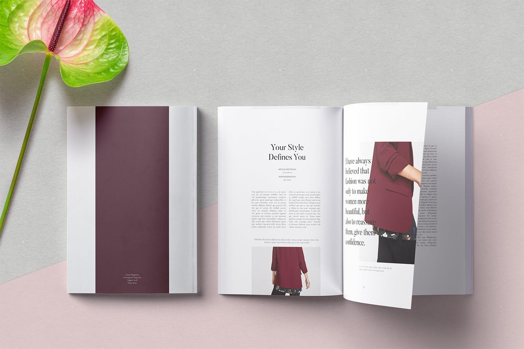 高端品牌女性服装展示模板Grete Magazine