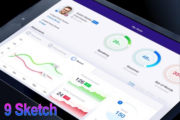 WEB端后台系统数据图表 AI - Ai Techer iPad App