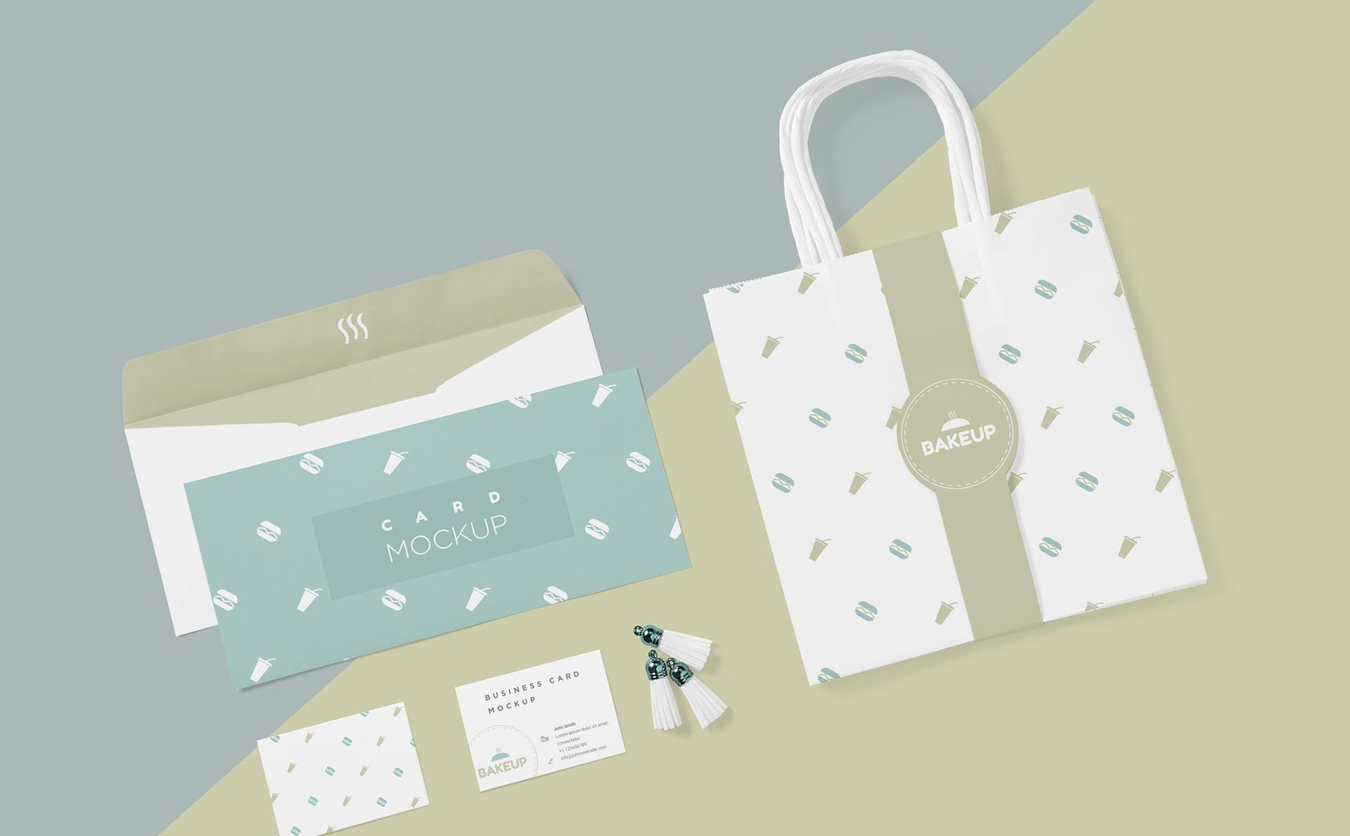 低饱和度配色手提袋样机(背色可更改颜色)Tote Bag Mockup PSD(1)