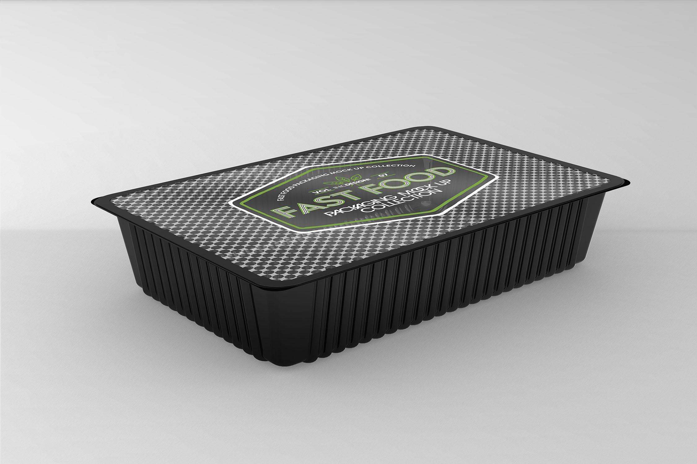 多品类快餐盒  甜点模板样机素材展示Fast Food Boxes Vol 7 Take Out Packaging Mockups插图(12)