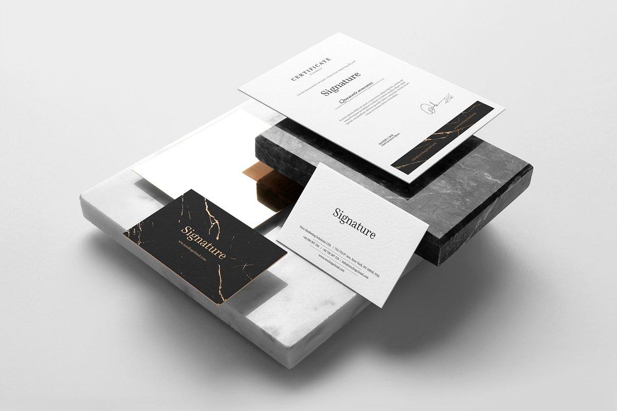 (精品)高端奢华品牌设计VI样机展示模型signature branding mockup