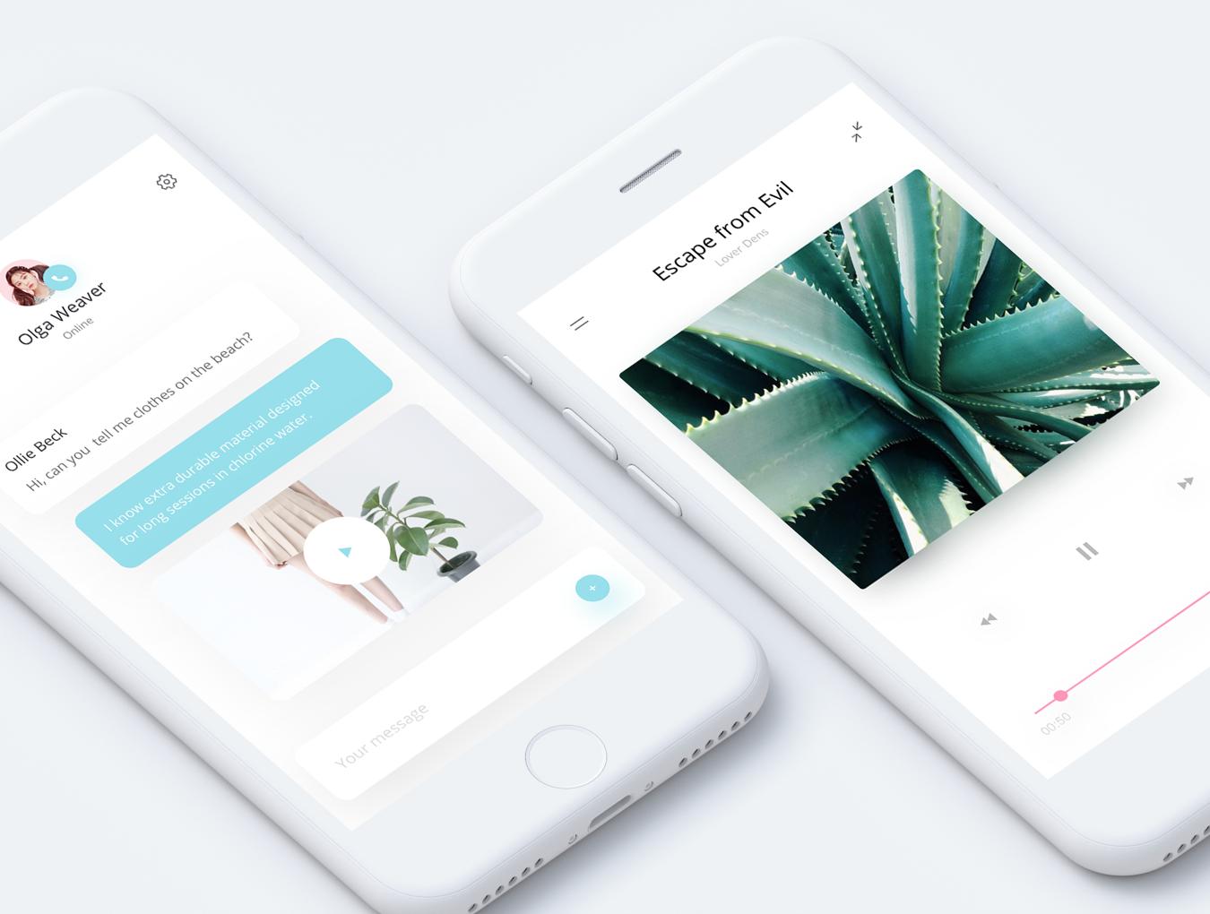 一款dribbble风格简约女性购物APP Fludish App