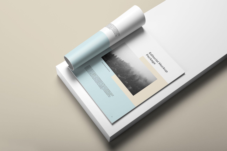 精致文艺画册模板展示样机素材样机Portrait Brochure Mockup Vol. 2