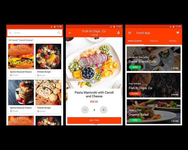 一款高品质的美食餐饮APP设计UI套件