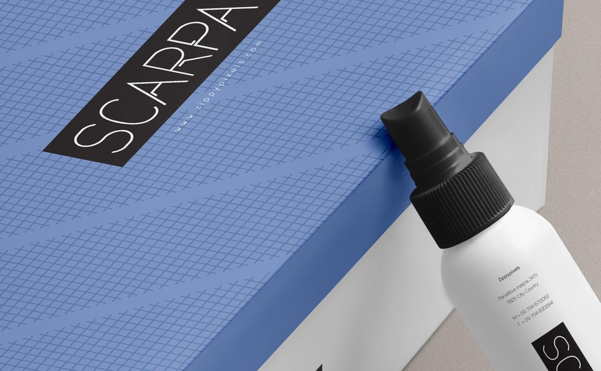 精致塑料喷雾瓶场景样机智能贴图样机Plastic Spray Bottle Mockup