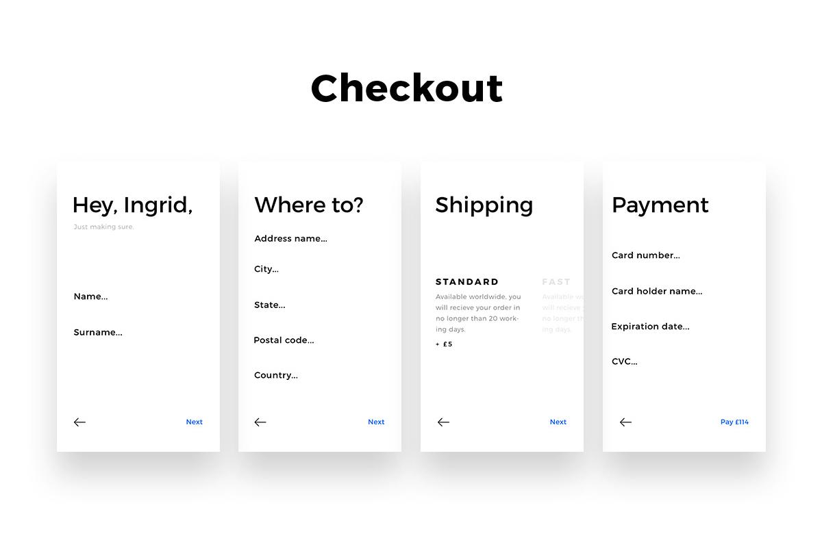 一款极简主义电子商务APP设计 购物UI素材 Kit.ANTIDESIGN