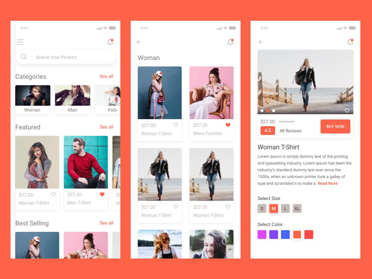 电子商务购物app设计素材 ui kit