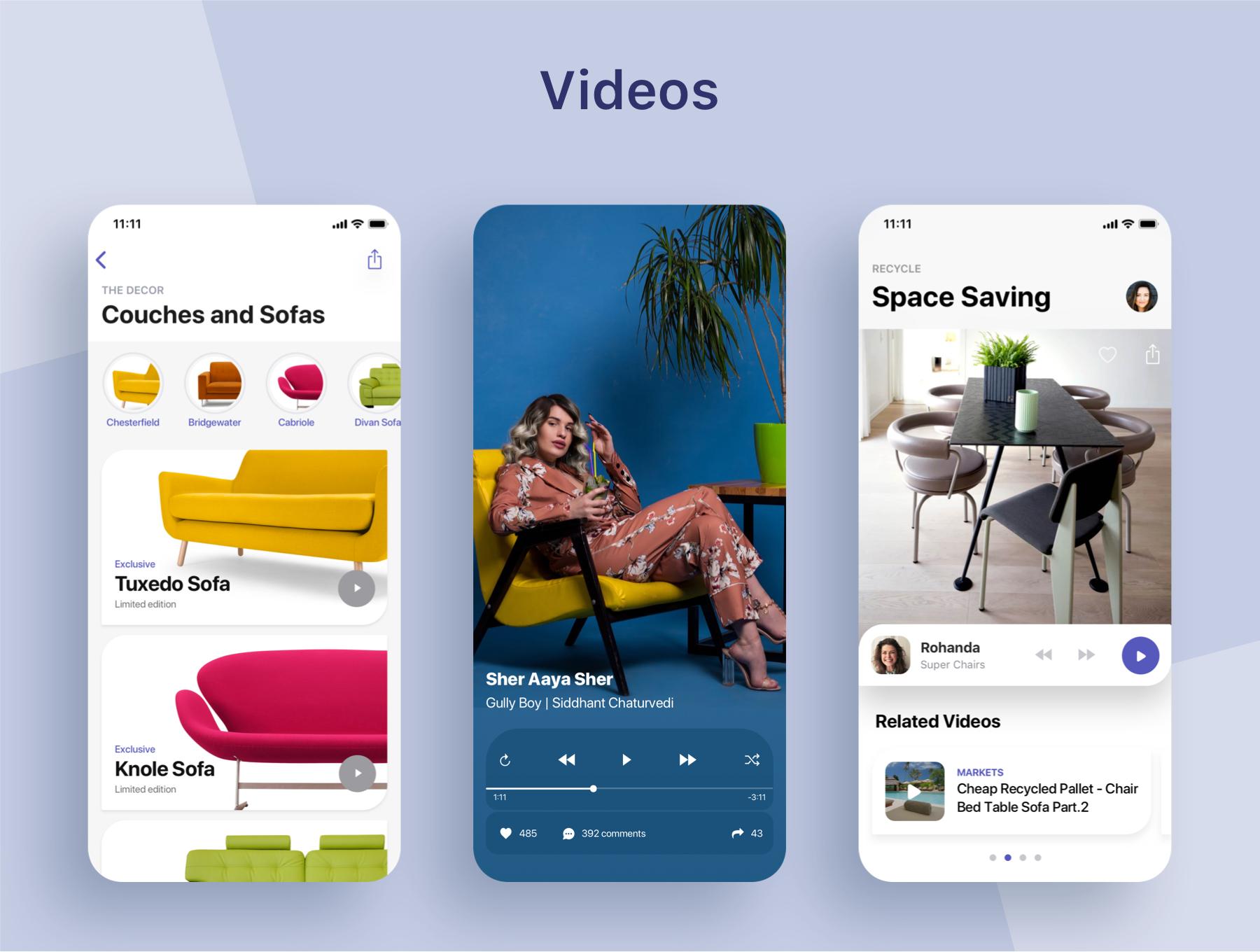 高端时尚家居电商APP UIkit下载 app设计 app界面设计  UI设计The Decor Lifestyle App