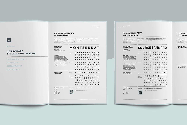企业品牌VI手册模板素材Brand Manual Vertical