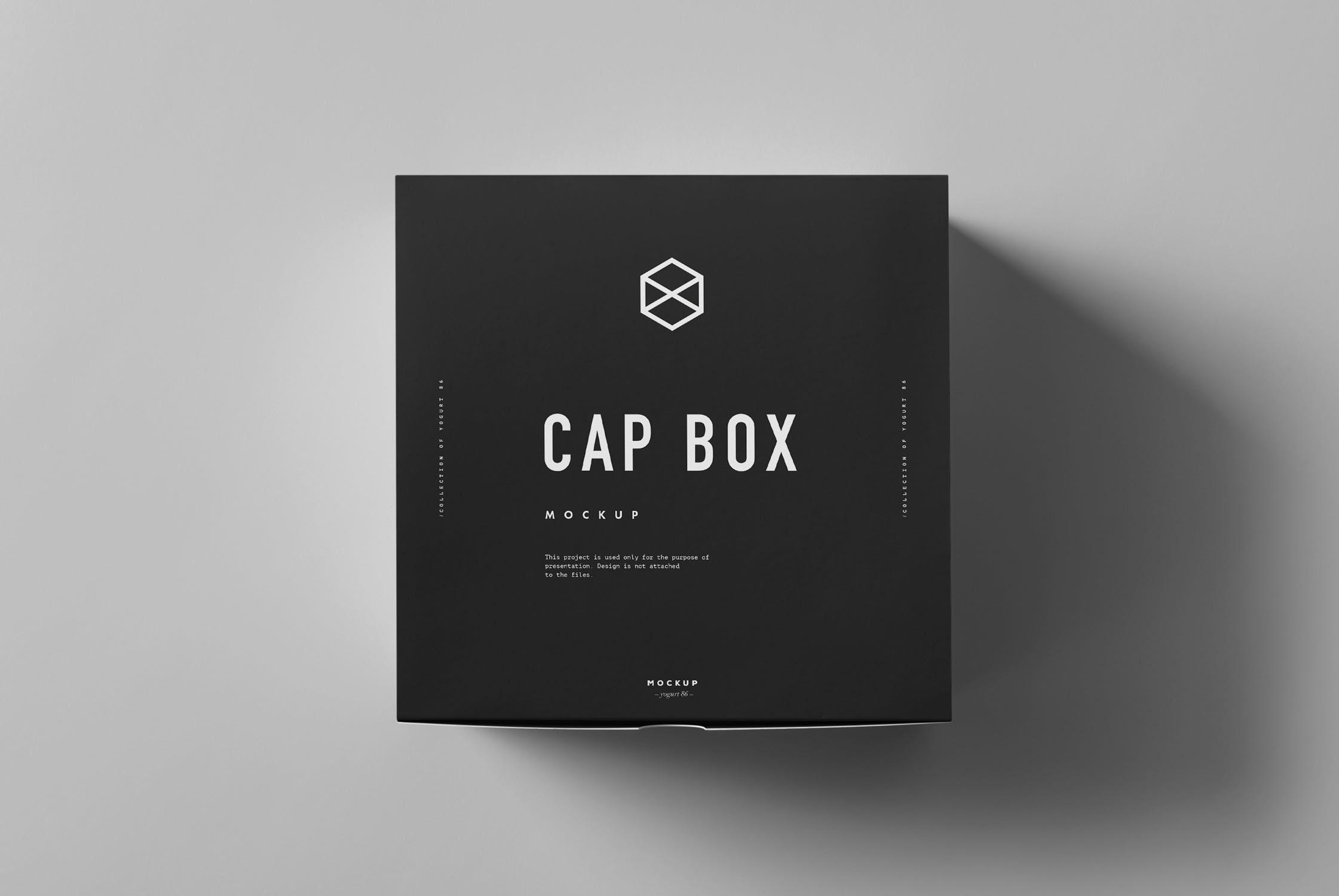 精致盖帽包装盒样机素材下载Cap & Box Mock-up