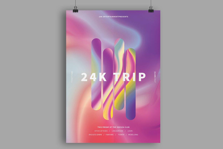 24K旅行海报/传单模板展示24K Trip Poster / Flyer