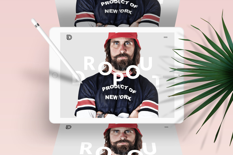 ipad苹果平板电脑模板素材展示样机效果Dropout - Agency | Freelancer | Portfolio PSD