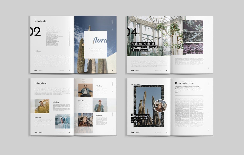生活类杂志画册模板素材下载Flora Magazine
