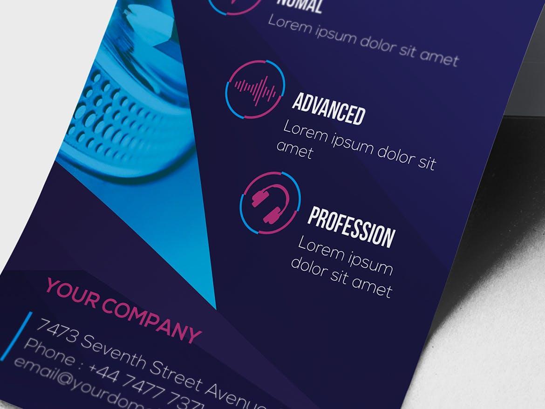DJ /机架卡和名片模板海报/素材模板展示DJ / Rack Card and Business Card Template