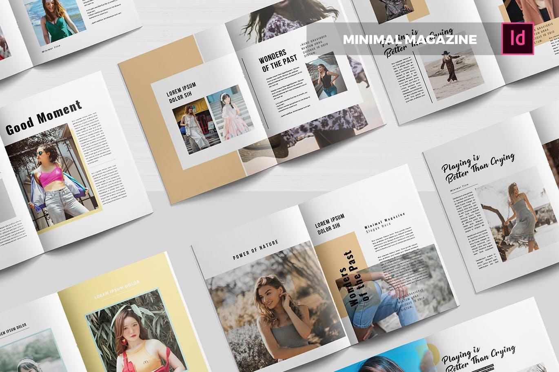 大牌潮流流行服饰画册杂志模板素材下载Minimal | Magazine