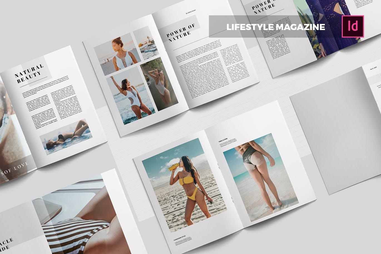女性生活海滩写真系列杂志画册素材下载Lifestyle | Magazine