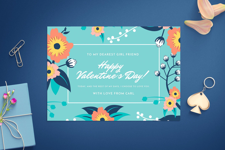 情人节卡片创意设计模板Valentine\'s day card template