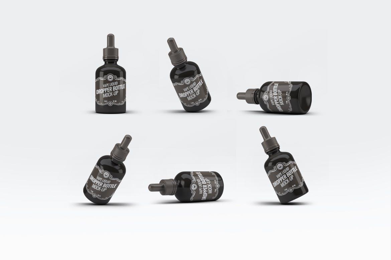 滴管样机素材样机展示效果图素材下载Vape Liquid Dropper Bottle Mock-Up