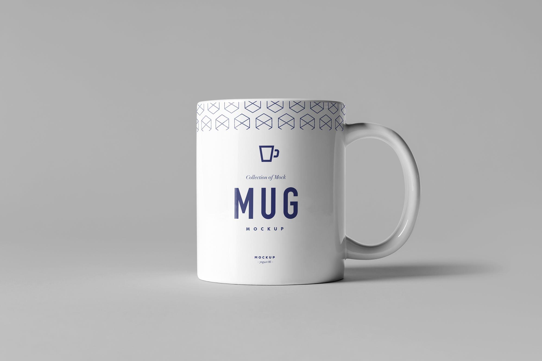 高端杯子纸盒模板样机素材下载Mug & Box Mock-up