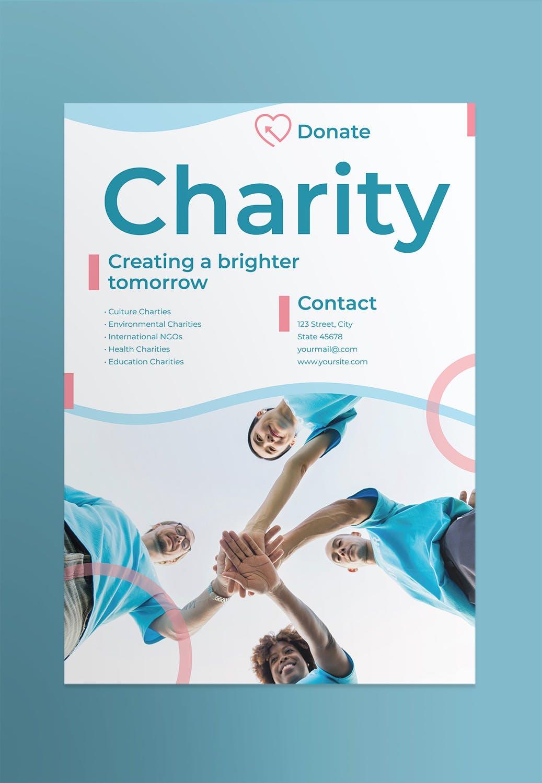 慈善公益海报/素材模板展示Charity Poster插图(1)