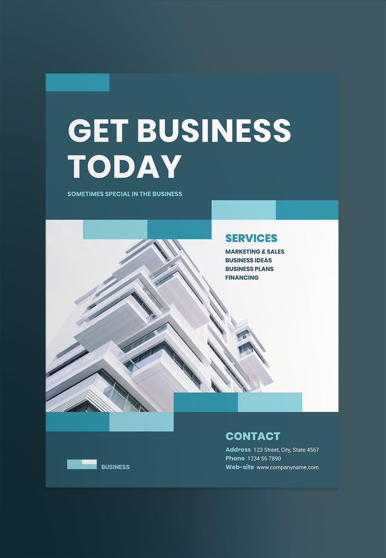 商业网络企业宣传海报/传单模板 Business Networking Poster
