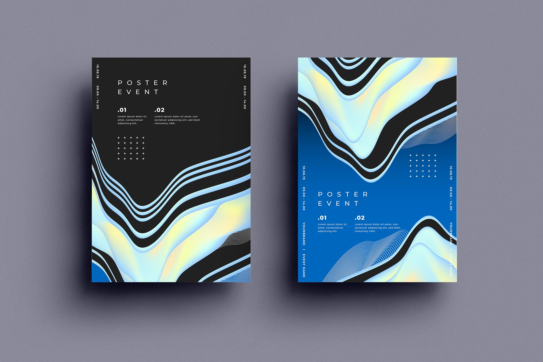 科技类发布会创意海报设计模板.30SRTP - Poster Design.30