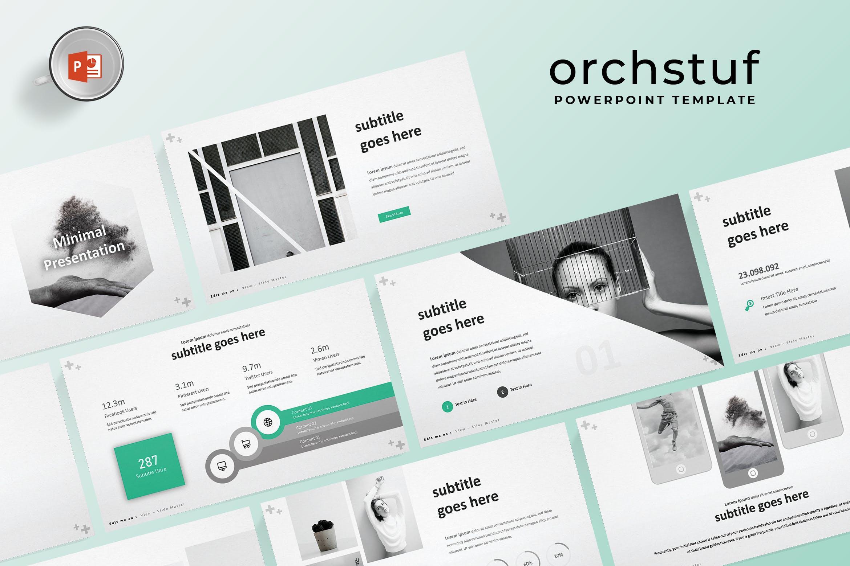 欧美现代风格商务PPT模版 Orch - Powerpoint Template