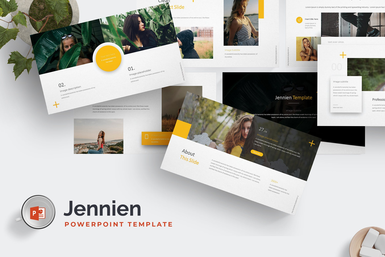 欧美时尚现代风格数据图表PPT模版  Jennien - Powerpoint Template