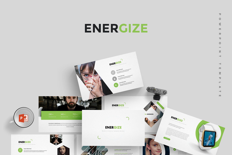 欧美现代高档商业演示幻灯片风格数据图表PPT模版 Energize - Powerpoint Template