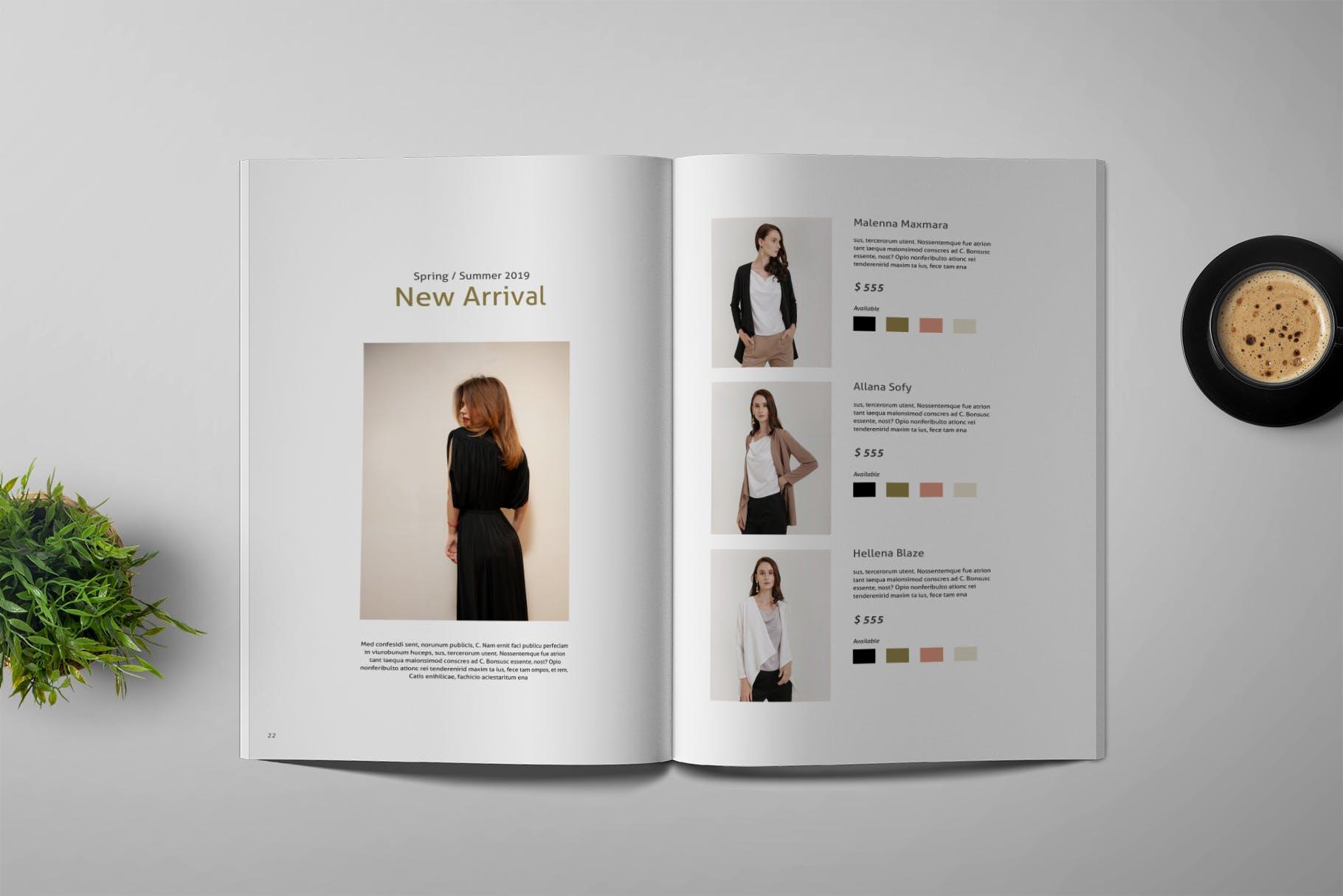 流行服饰样机样机素材模板下载Casual - Magazine Template