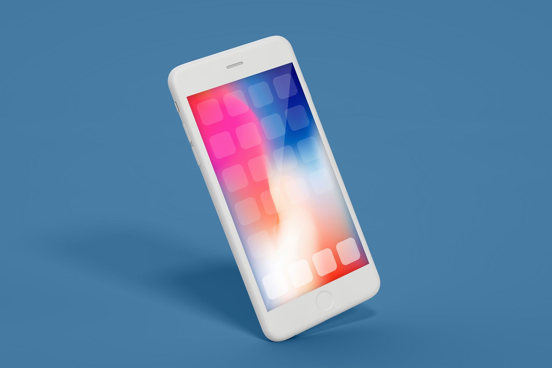 特殊角度创意苹果手机样机模板素材展示iPhone Mockup Multi-Layer PSD
