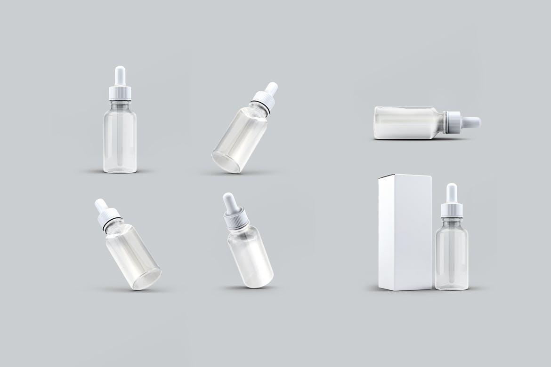 滴管瓶样机素材模版展示样机效果图模版展示效果Dropper Bottle Mock-Up