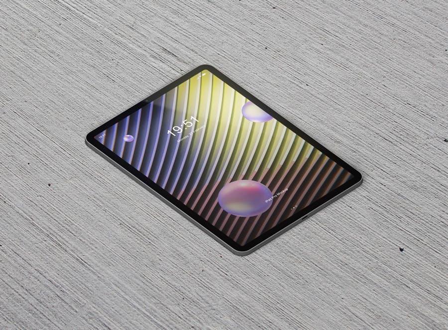 新版平板电脑模板素材样机展示模板Pad Pro Tablet Screen Mockup