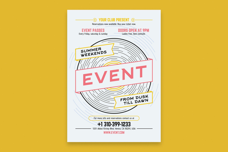 音乐活动海报模板Music Event Poster Template