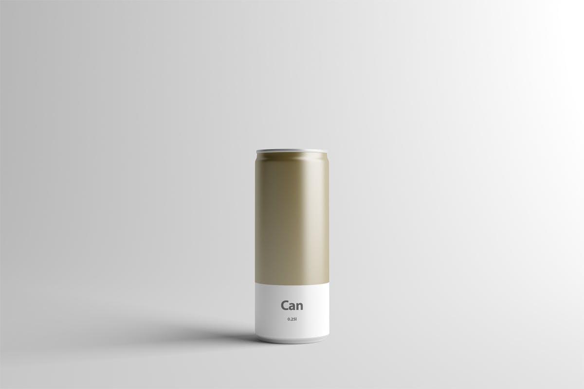 易拉罐铝制品样机素材下载Can Mock-Up - 250ml