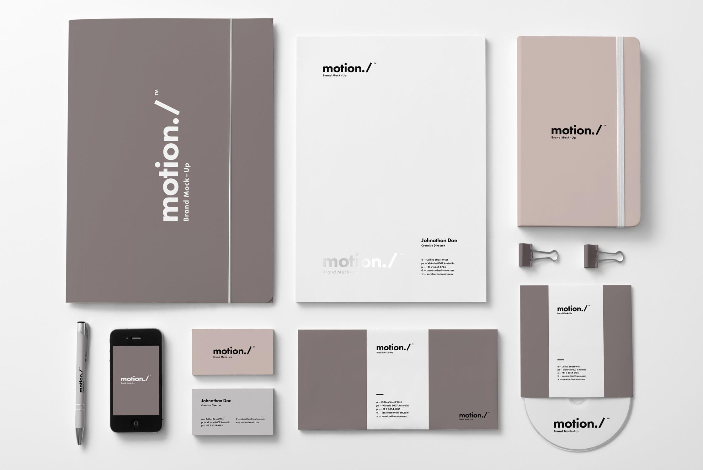 精致品牌样机素材模板展示样机下载Branding / Identity Mock-up 6