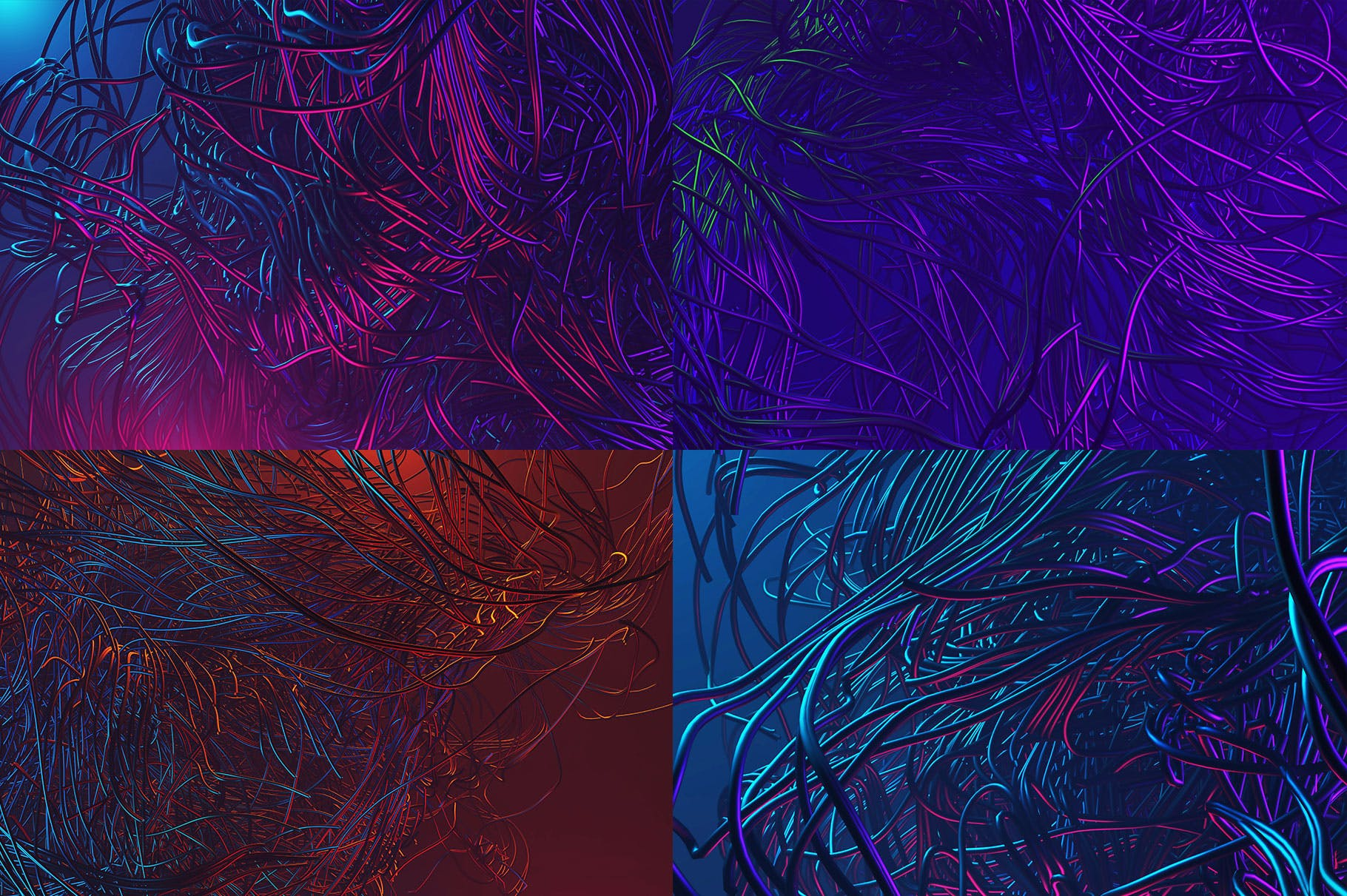 15个未来派3D背景Tentacles - 15 Futuristic 3D Backgrounds