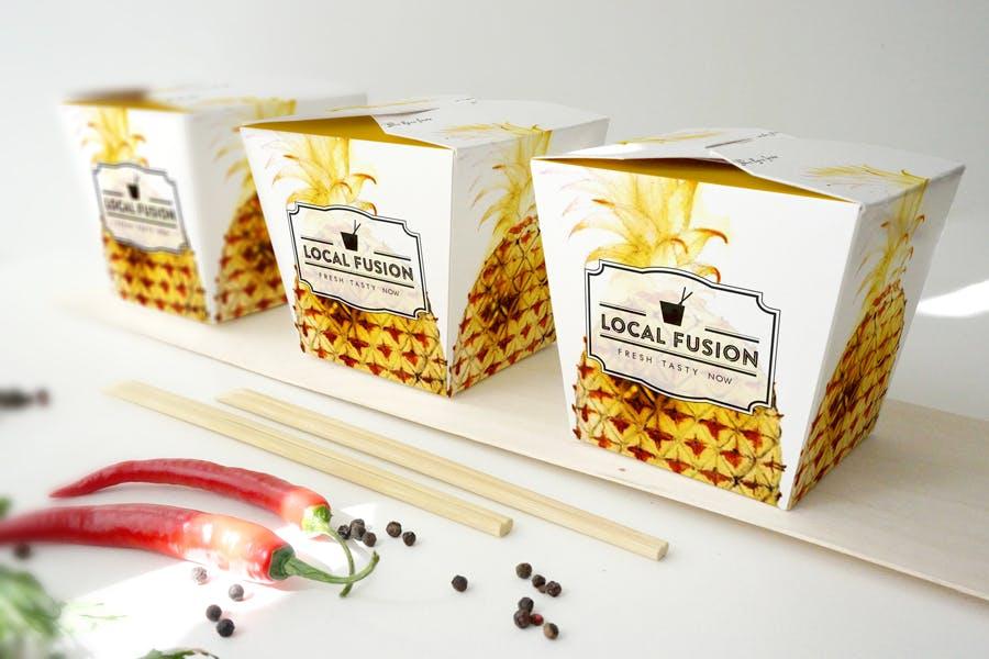 食品盒外包装场景样机素材展示效果Food Box Mockup