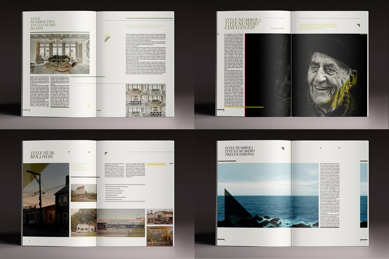 优雅简洁的杂志模板素材Elegant Magazine Indesign Magazine
