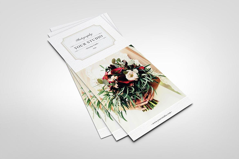 摄影定价指南 - 机架卡模板Photography Pricing Guide - Rack Card Template