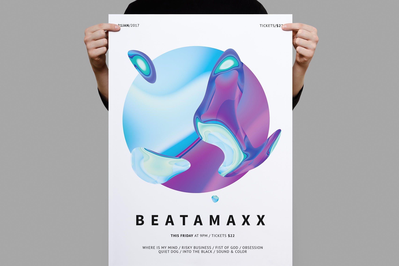 渐变风海报模板展素材海报传单Beatamaxx Poster / Flyer